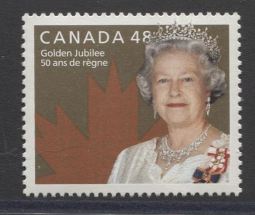 Canada #1932 (SG#2115) 48c Queen Elizabeth II Golden Jubilee Issue NF/DF Paper VF-84 NH Brixton Chrome