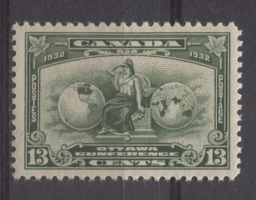 Canada #194 (SG#317) 13c Deep Green 1932 Ottawa Conference Yellowish Cream Gum VF-84 OG Brixton Chrome