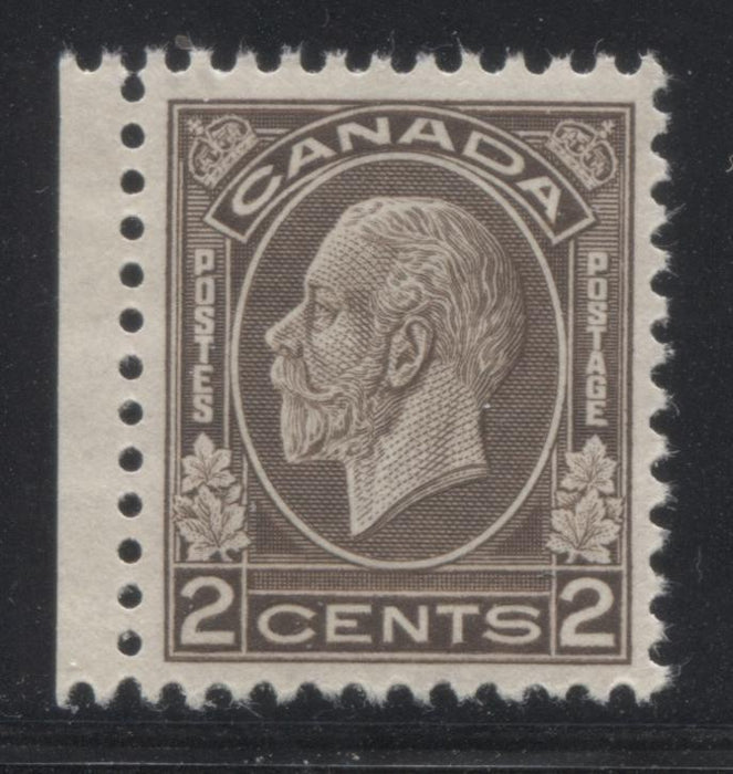 Canada #196ii 2c Sepia Brown King George V, 1932-1935 Medallion Issue, A Very Fine NH Example of the Very Rare Dry Rotary Printing Brixton Chrome