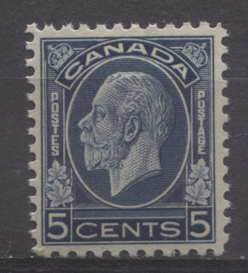 Canada #199 (SG#323) 5c Deep Steel Blue 1932-35 Medallion Issue Brownish Gum VF-80 OG Brixton Chrome