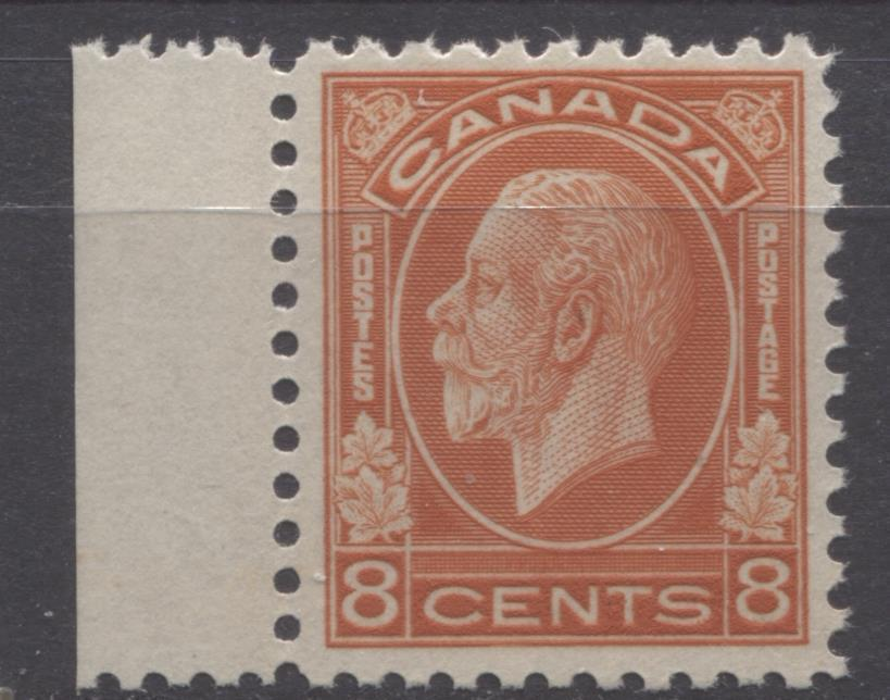 Canada #200 (SG#324) 8c Deep Red Orange 1932-35 Medallion Issue Brownsh Cream Gum VF-75 OG Brixton Chrome