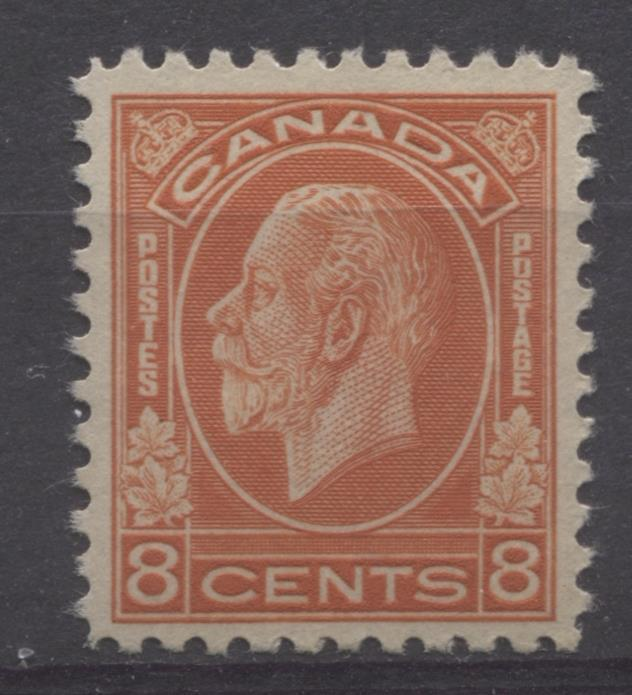 Canada #200 (SG#324) 8c Red Orange 1932-35 Medallion Issue Mottled Brown Cream Gum VF-80 OG Brixton Chrome