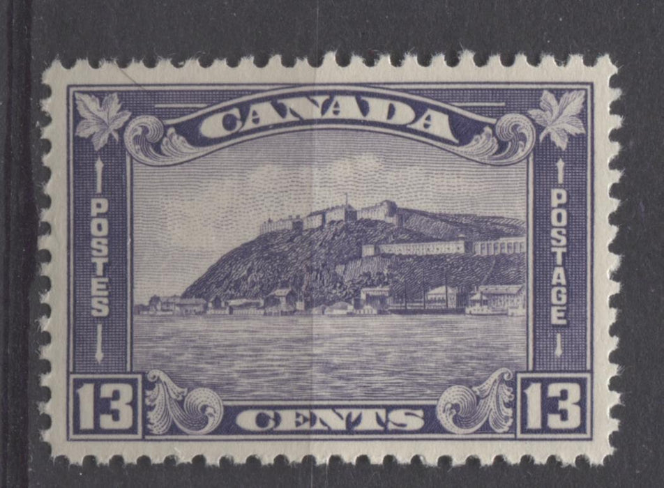 Canada #201 (SG#325) 13c Deep Dull Lilac 1932-35 Medallion Issue Cream Gum VF-84 LH Brixton Chrome