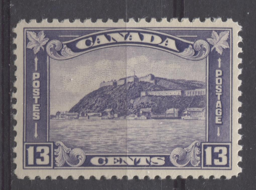 Canada #201 (SG#325) 13c Deep Dull Reddish Lilac 1932-35 Medallion Issue Cream Gum VF-78 LH Brixton Chrome