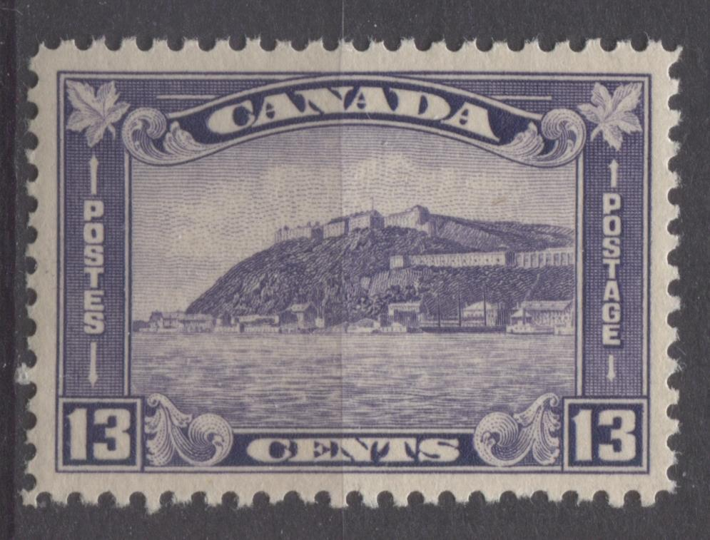 Canada #201 (SG#325) 13c Deep Dull Reddish Lilac 1932-35 Medallion Issue Deep Cream Gum VF-84 NH Brixton Chrome