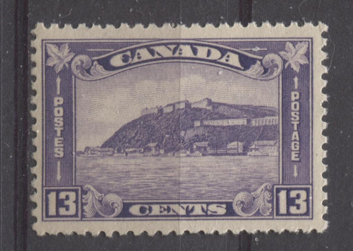 Canada #201 (SG#325) 13c Deep Dull Reddish Vio 1932-35 Medallion Issue Deep Cream Gum VF-75 NH Brixton Chrome