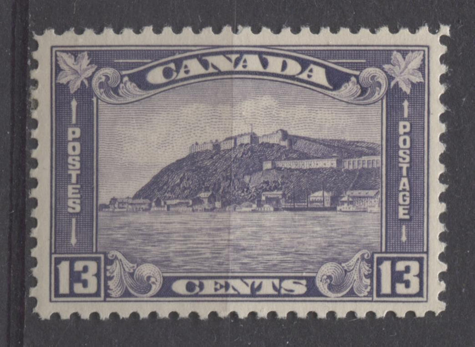 Canada #201 (SG#325) 13c Deep Dull Violet 1932-35 Medallion Issue Cream Gum VF-84 OG Brixton Chrome