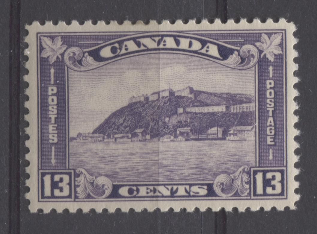 Canada #201 (SG#325) 13c Deep Reddish Violet 1932-35 Medallion Issue Cream Gum VF-84 OG Brixton Chrome