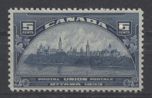 Canada #202 (SG#329) 5c Steel Blue 1933 UPU Meeting Issue Cream Gum VF-84 OG Brixton Chrome