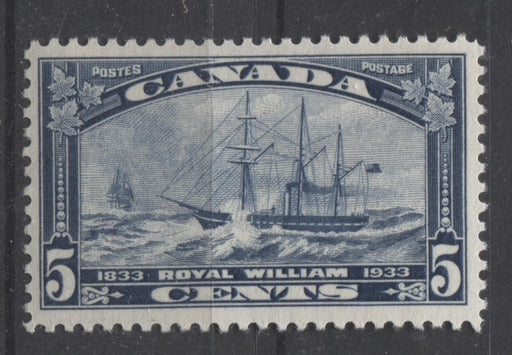 Canada #204 (SG#331) 5c Steel Blue 1933 Royal William Issue Cream Gum VF-75 NH Brixton Chrome