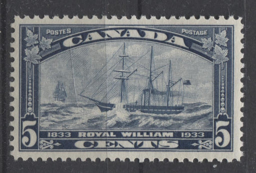 Canada #204 (SG#331) 5c Steel Blue 1933 Royal William Issue Cream Gum VF-75 VLH Brixton Chrome