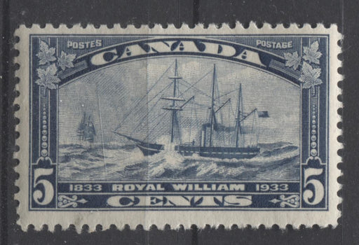 Canada #204 (SG#331) 5c Steel Blue 1933 Royal William Issue Yellowish Cream Gum F-70 NH Brixton Chrome