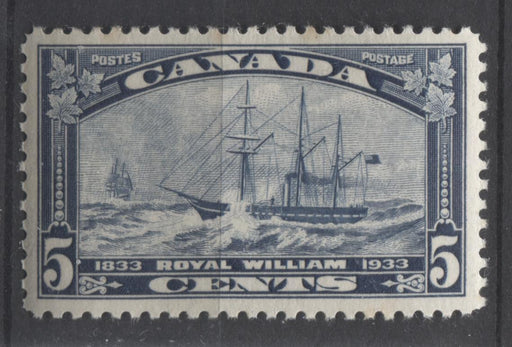 Canada #204 (SG#331) 5c Steel Blue 1933 Royal William Issue Yellowish Cream Gum VF-75 NH Brixton Chrome