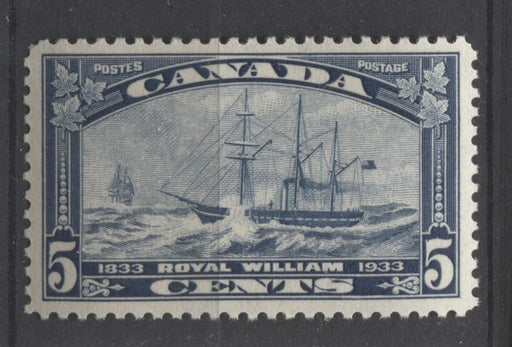 Canada #204 (SG#331) 5c Steel Blue 1933 Royal William Issue Yellowish Cream Gum VF-80 NH Brixton Chrome