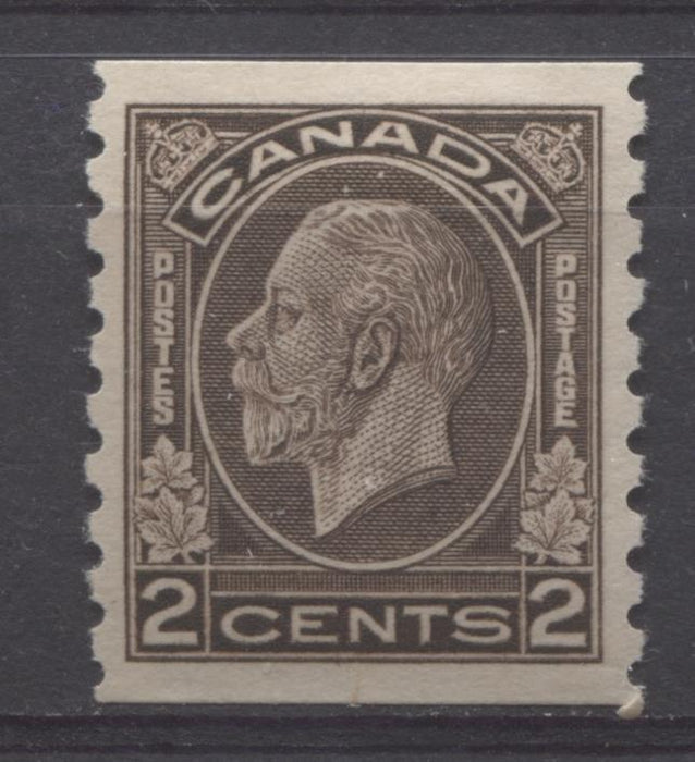 Canada #206 2c Deep Yellowish Sepia 1932-35 Medallion Issue Coil VF-80 OG Brixton Chrome