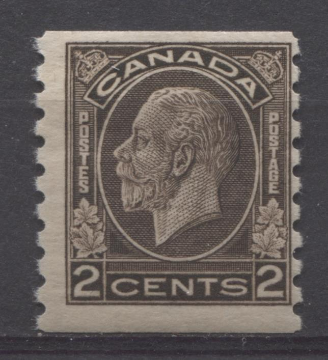 Canada #206 (SG#327) 2c Blackish Brown 1932-35 Medallion Issue Coil Cream Gum F-65 OG Brixton Chrome