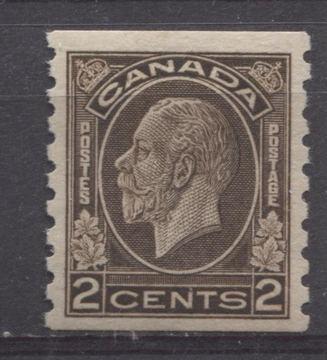 Canada #206 (SG#327) 2c Deep Yellowish Sepia 1932-35 Medallion Issue Coil VF-75 OG Brixton Chrome