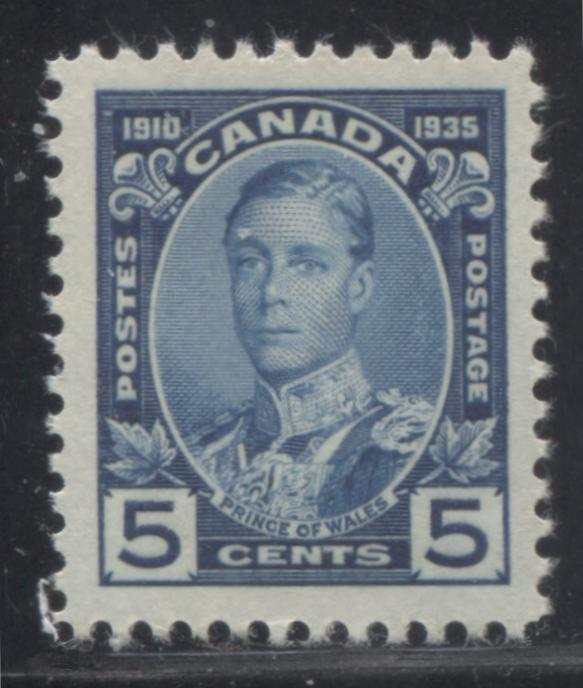 Canada #214 5c Prussian Blue Prince of Wales, 1935 Silver Jubilee Issue, A Very Fine Mint NH Example Brixton Chrome
