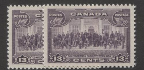 Canada #224 (SG#348) 13c Deep Rose Lilac Charlottetown Conference 1935-1937 Dated Die Issue SUP-98 NH Brixton Chrome