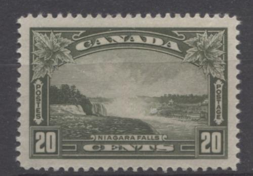 Canada #225 (SG#349) 20c Deep Olive Green Niagara Falls 1935-1937 Dated Die Issue SUP-98 OG Brixton Chrome