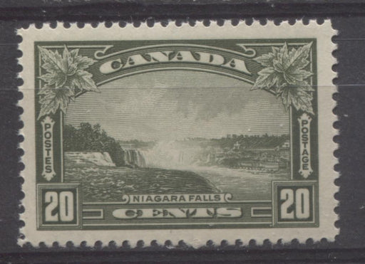 Canada #225 (SG#349) 20c Deep Olive Green Niagara Falls Dated Die Issue VF-76 NH Brixton Chrome