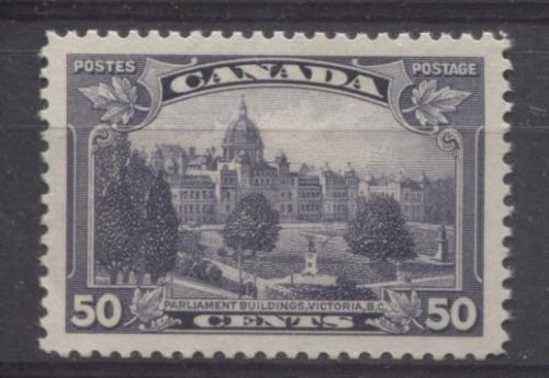 Canada #226 (SG#350) 13c Dull Blackish Lilac Parliament Buildings in Victoria 1935-1937 Dated Die Issue GEM-100 OG Brixton Chrome
