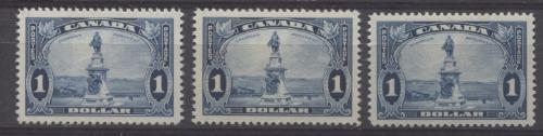 Canada #227 (SG#351) $1 Deep Prussian Blue Champlain Monument 1935-1937 Dated Die Issue VF-80 OG Brixton Chrome