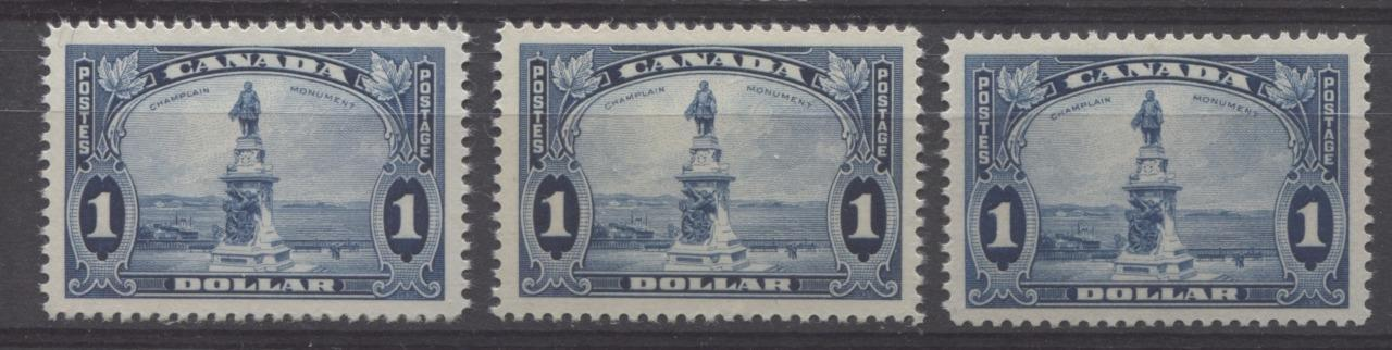 Canada #227 (SG#351) $1 Prussian Blue Champlain Monument 1935-1937 Dated Die Issue VF-80 NH Brixton Chrome