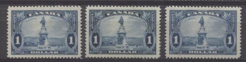 Canada #227i (SG#351) $1 Pale Prussian Blue Champlain Monument 1935-1937 Dated Die Issue F-70 OG Brixton Chrome