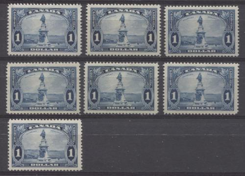 Canada #227i (SG#351) $1 Prussian Blue Champlain Monument 1935-1937 Dated Die Issue F-73 OG Brixton Chrome