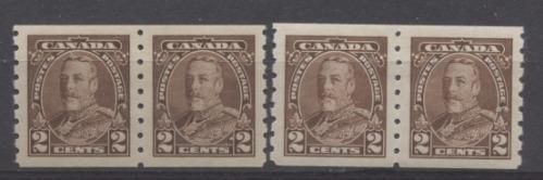 Canada #229 (SG#353) 2c Deep Brown King George V 1935-1937 Dated Die Issue Coil SUP-98 LH Brixton Chrome