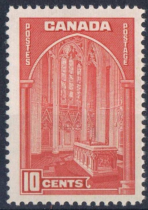 Canada #241 (SG#363a) 10c Dark Carmine Memorial Chamber 1938-42 Mufti Issue - VF-75 NH Brixton Chrome