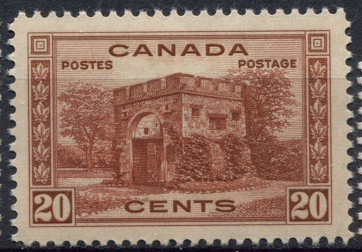 Canada #243 (SG#365) 20c Red Brown Fort Gary 1938-1942 Mufti Issue VF-80 LH Brixton Chrome