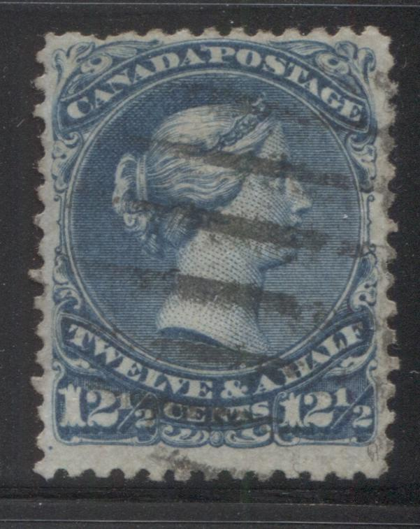 Canada #28v 12.5c Blue Queen Victoria, 1868-1897 Large Queen Issue, Very Good Used Single on Bothwell Paper (Duckworth Paper 6) Brixton Chrome