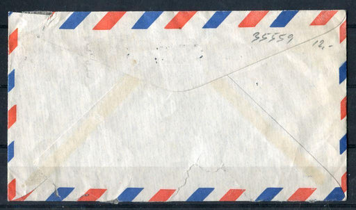 Canada #320/374 (SG#443/500) 1957 Karsh Issue 17c Overpaid Airmail Cover to Denmark - VG-59 Brixton Chrome