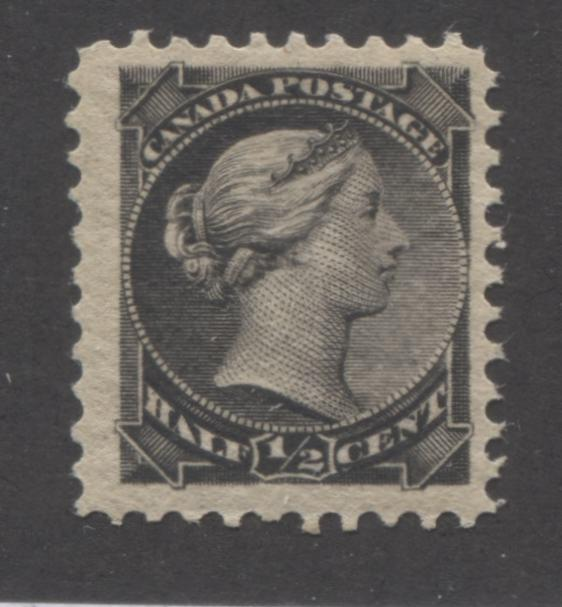 Canada #34 1/2c Black Queen Victoria 1870-1897 Small Queen Issue a Fine NH Example of the Second Ottawa Printing, Perf. 12. x 12.25 Brixton Chrome