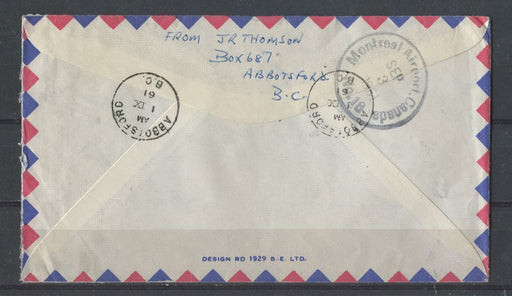 Canada #343/394 (SG#474/520) 1954 Wilding Issue & 1961 Columbo Plan on Airmail to Prague XF-85 Brixton Chrome