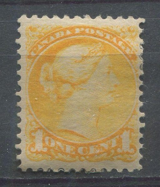 Canada #35 (SG#75) 1c Yellow Small Queen - Perf 12 Ottawa Printing VF-75 OG HR Brixton Chrome