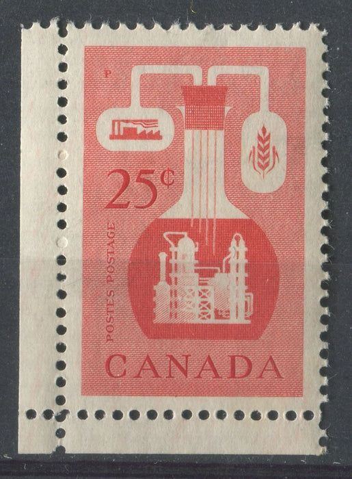 Canada #363 (SG#489) 25c Vermilion Chemical Industry 1956-1967 Wilding Issue DF GW Smooth Paper VF-84 NH Brixton Chrome