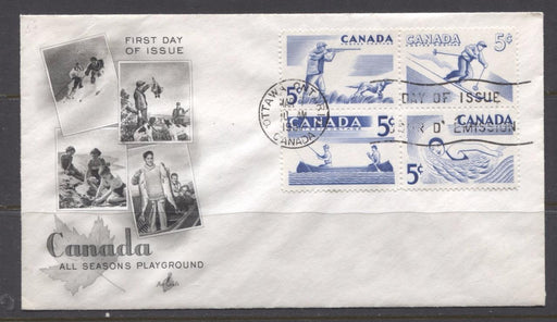 Canada #368a (SG#491a) 1957 Recreational Sports Issue on Art Craft First Day Cover XF-92 Brixton Chrome