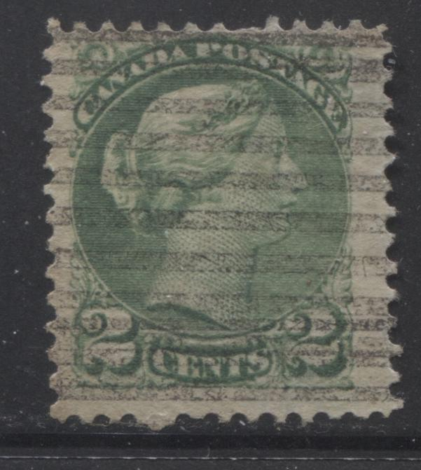 Canada #36i 2c Green Queen Victoria, 1870-1897 Small Queen Issue, Fine Used Example of the Second Ottawa Printing With Walburn Style J-36P Precancel, Perf. 12.1 Brixton Chrome