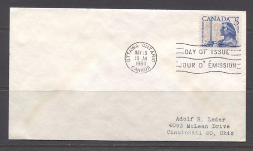 Canada #390 (SG#516) 1960 5c Battle of Long Sault Addressed First Day Cover VF-76 Brixton Chrome