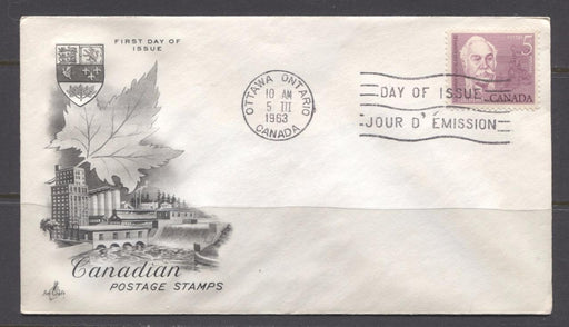Canada #410 (SG#535) 1963 Casimir Gzowski Issue Art Craft First Day Cover VF-79 Brixton Chrome
