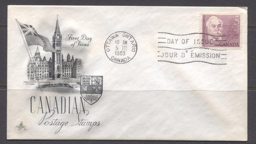 Canada #410 (SG#535) 5c 1963 Casimir Gzowski Issue Art Craft First Day Cover F-72 Brixton Chrome