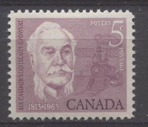 Canada #410 (SG#535) 5c Rose Lilac 1963 Sir Casimir Gzowski VF 75/80 NH Brixton Chrome