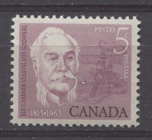 Canada #410 (SG#535) 5c Rose Lilac 1963 Sir Casimir Gzowski VF 84 NH Brixton Chrome