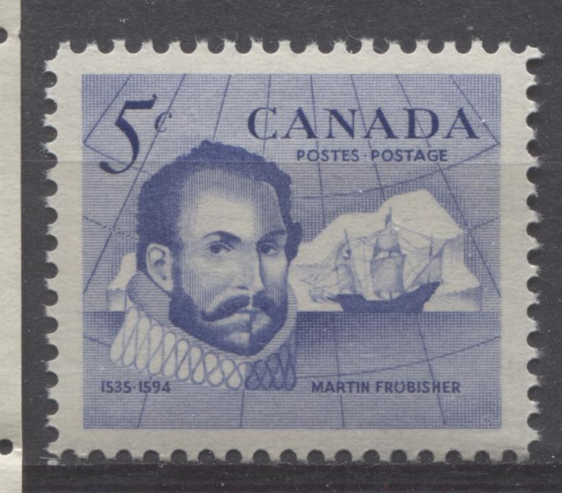 Canada #412 (SG#537) 5c Ultramarine 1963 Sir Martin Frobisher VF 75/80 NH Brixton Chrome