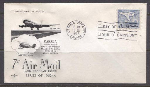Canada #414 (SG#540) 1964 7c Cameo Issue Rose Craft First Day Cover XF-86 Brixton Chrome
