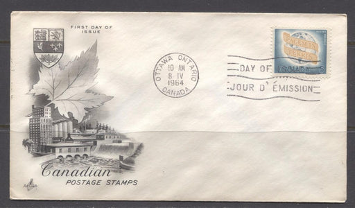 Canada #416 (SG#541) 1964 World Peace Issue Art Craft First Day Cover VF-79 Brixton Chrome
