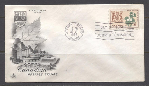 Canada #418 (SG#543) 5c Ontario 1964-1966 Provincial Emblems Issue Art Craft First Day Cover VF-79 Brixton Chrome